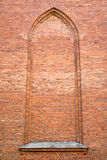 Vintage brick wall with arch Royalty Free Stock Images