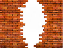 Free Vintage Brick Wall Background With Hole. Royalty Free Stock Images - 61043759