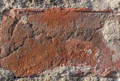 Vintage brick in wall closeup texture. Red brown brick in wall Royalty Free Stock Photos