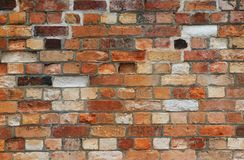 Vintage brick wall texture as background Stock Photo