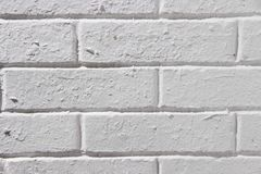 Vintage Brick Wall With White plaster Square texture or background. Whitewashed wall Painted Bricks. Old White Stone Wall stock images