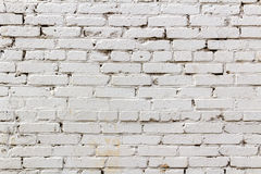 Vintage brick walls painted white. Abstract background Stock Photos