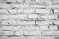 Vintage bricks painted white, vignette. Royalty Free Stock Photos