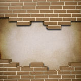 Vintage brickwall background Stock Image