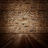 Vintage brickwall room Royalty Free Stock Photos