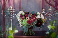 Vintage bridal bouquet from succulents Stock Photography
