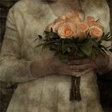 Vintage bride bouquet Stock Image