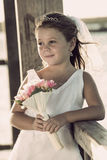 Vintage bride girl Royalty Free Stock Photo