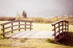 Vintage Bridge in the countryside Stock Images