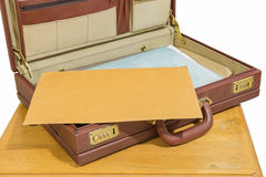 Vintage briefcase Stock Photography
