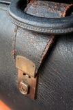 Vintage briefcase lock. Vintage briefcase stock images