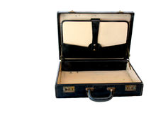 Vintage Briefcase on White Royalty Free Stock Images