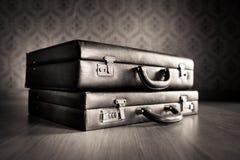 Vintage briefcases Stock Photo