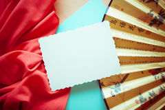 Vintage bright background with red drapery Stock Image