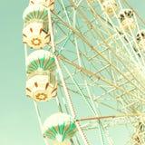 Vintage Bright Ferris Wheel Royalty Free Stock Photo