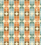 Vintage bright geometric seamless pattern, elliptic abstract bac Stock Image