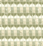 Vintage bright geometric seamless pattern, stained glass abstrac Stock Image