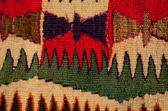 Vintage bright handmade carpet stock image