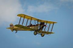 Vintage British BE2 biplane Royalty Free Stock Photo