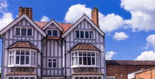 Vintage british building at the center of old town. Stock Photos