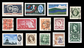 Vintage British Commonwealth Stamps Royalty Free Stock Images