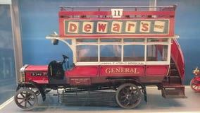 Vintage british double decker Stock Photo