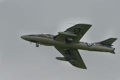 Vintage British Hawker Hunter T7 Royalty Free Stock Photos