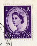 Vintage British Postage Stamp from 1967. UNITED KINGDOM - CIRCA 1967: A vintage British postage stamp featuring a portrait of Queen Elizabeth II, circa 1967 Royalty Free Stock Photo