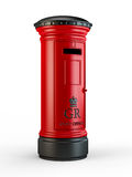 Vintage British postal pillar box Royalty Free Stock Images