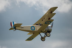 Vintage British  Sopwith Triplane. Cosford, UK - 08 June 2014: World War 1 vintage British Sopwith Triplane aircraft seen at RAF Cosford Airshow Royalty Free Stock Images