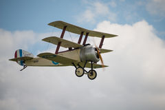 Vintage British  Sopwith Triplane. Cosford, UK - 08 June 2014: World War 1 vintage British Sopwith Triplane aircraft seen at RAF Cosford Airshow Royalty Free Stock Image