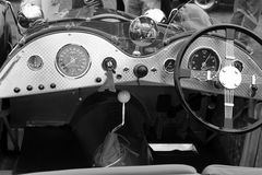 Vintage british sports car interior. Instruments 1951 allard j2 Royalty Free Stock Image