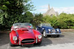 Vintage British sports cars Royalty Free Stock Photography