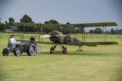 Vintage British training aircraft Avro 504K. 1918 Stock Photos