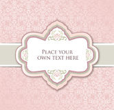 Vintage brocade background with label and copy space Royalty Free Stock Photos