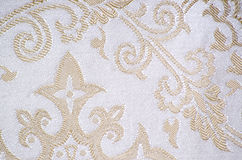 Vintage brocade fabric detail Stock Images