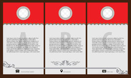 Vintage brochure and flyer design template, creative art elements  Stock Photography