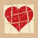 Vintage Broken heart in relationship Stock Images