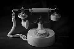 Vintage wired telephone royalty free stock image