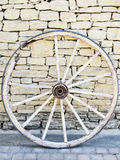 Vintage broken wood wheel in Provence, France Stock Image