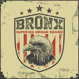 Vintage bronx typography t-shirt graphics Royalty Free Stock Photography