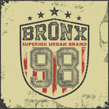 Vintage bronx typography t-shirt graphics Royalty Free Stock Images