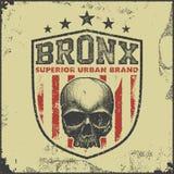 Vintage bronx typography t-shirt graphics Royalty Free Stock Photo
