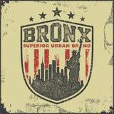 Vintage bronx typography t-shirt graphics Stock Photos