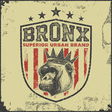Vintage bronx typography t-shirt graphics Stock Photography