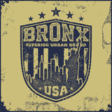 Vintage bronx typography t-shirt graphics Stock Images