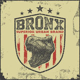 Vintage bronx typography t-shirt graphics Royalty Free Stock Image