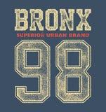 Vintage bronx typography Royalty Free Stock Photos