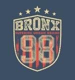 Vintage bronx typography Royalty Free Stock Photo