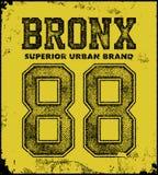Vintage bronx typography t-shirt graphics Stock Image